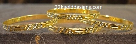 Daily Wear Rhodium Polish Bangles