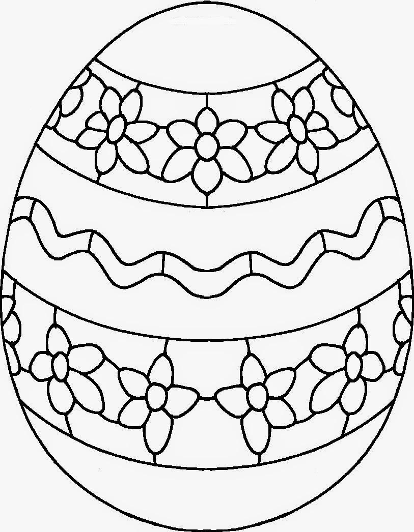 huevo pascua colorear