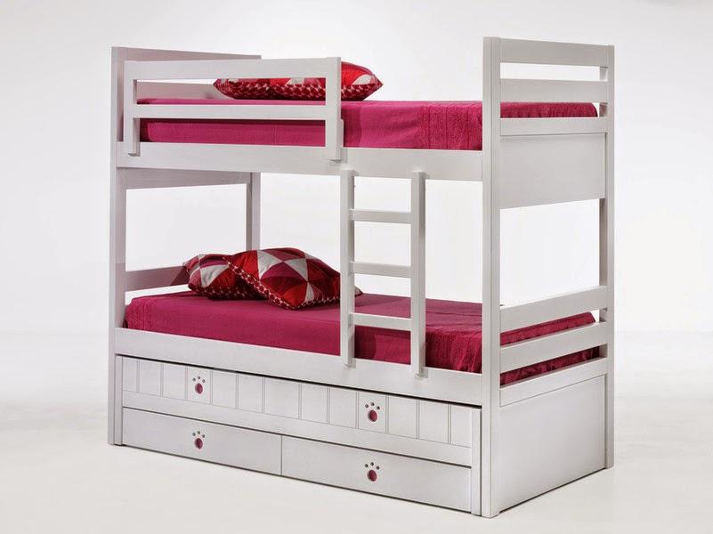 litera blanca 3 camas