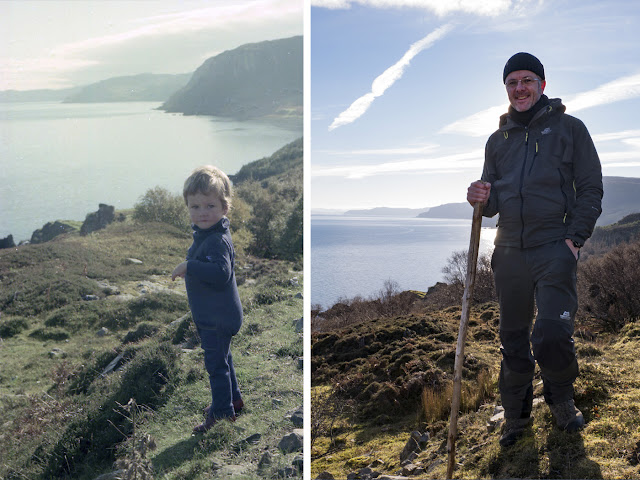 Robert Marshall (aged 2) in 1975 and Robert (Bob) Marshall in 2018