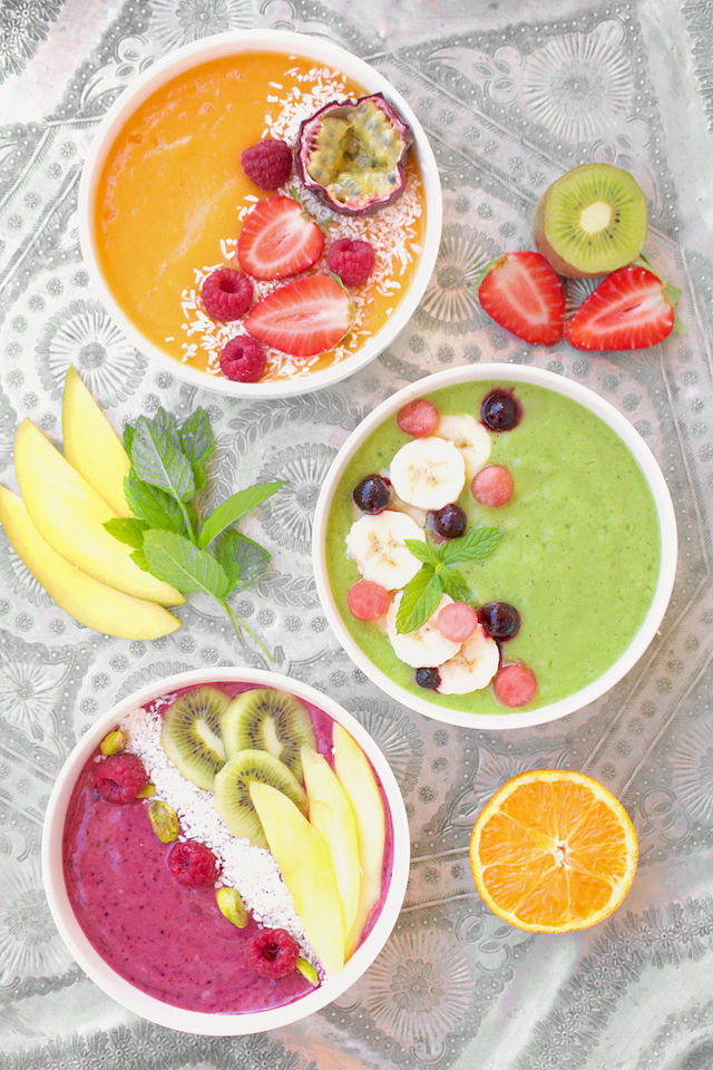 Smoothie Bowls : Three ways