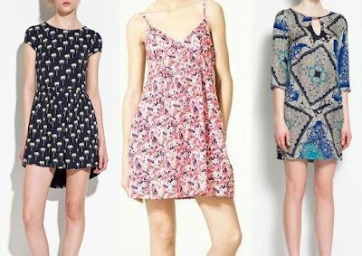 tres vestidos para esta primavera verano de zara