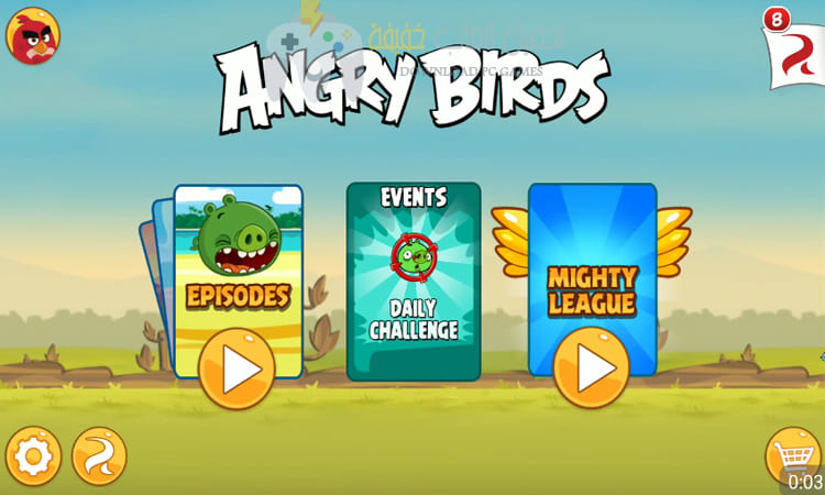تحميل لعبة الطيور الغاضبة 4 Angry Birds للكمبيوتر مجانا