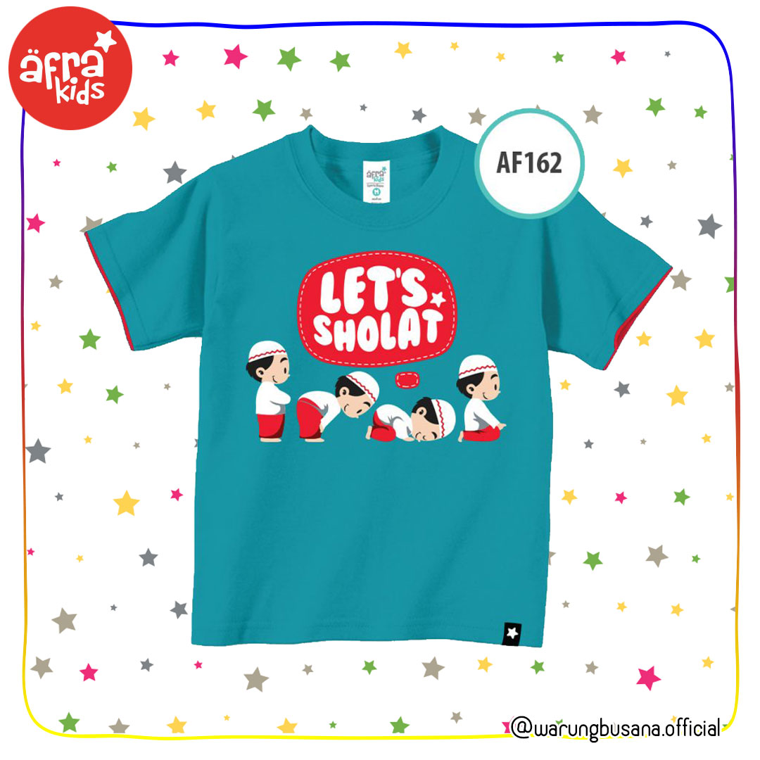 Afrakids Kaos Anak AF162 Lets Sholat