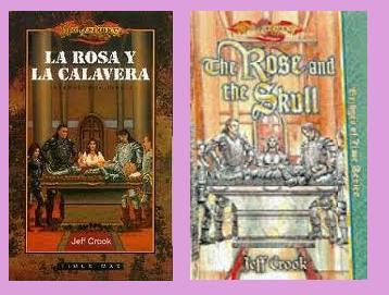 portadas del libro La rosa y la calavera, de Jeff Crook