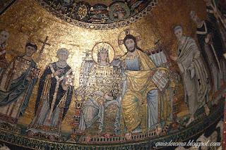 mosaico afresco santa trastevere - A alma de Trastevere