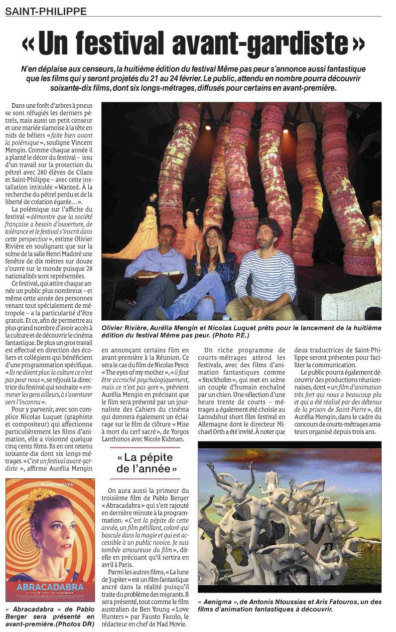 Festival MEME PAS PEUR : Un Festival avant-gardiste