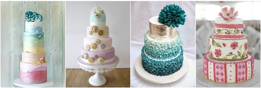 tartas de colores para bodas