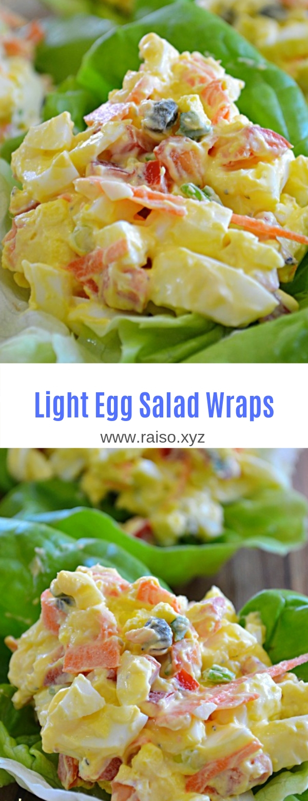 Light Egg Salad Wraps