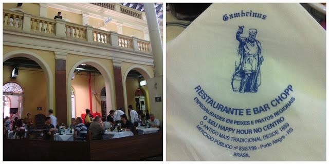 Restaurante Gambrinus no Mercado Público de Porto Alegre