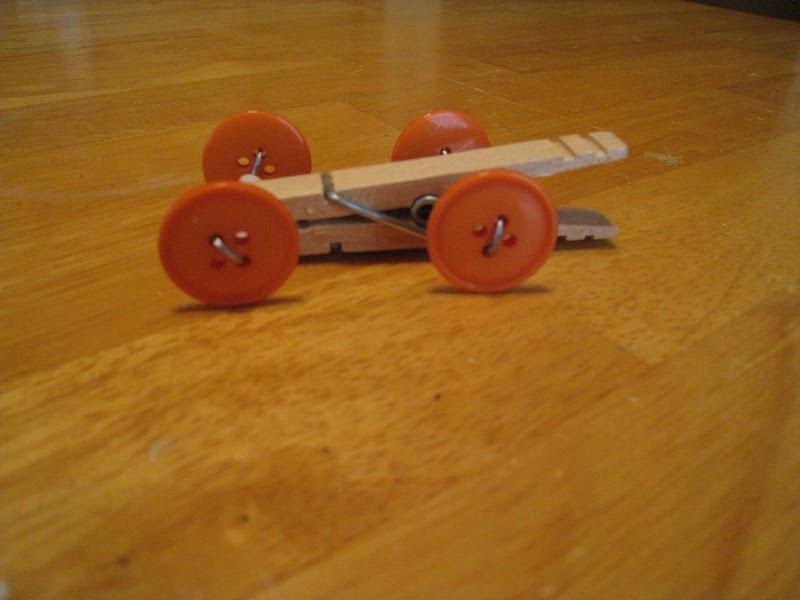 Crafts 4 Camp Clothespin Race Car