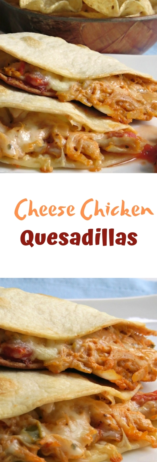CHEESY CHICKEN QUESADILLAS #easy #meal