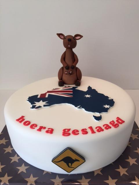 taart australie Australië taart / Australian themed cake | Taarten; Gemaakt door Jonne taart australie