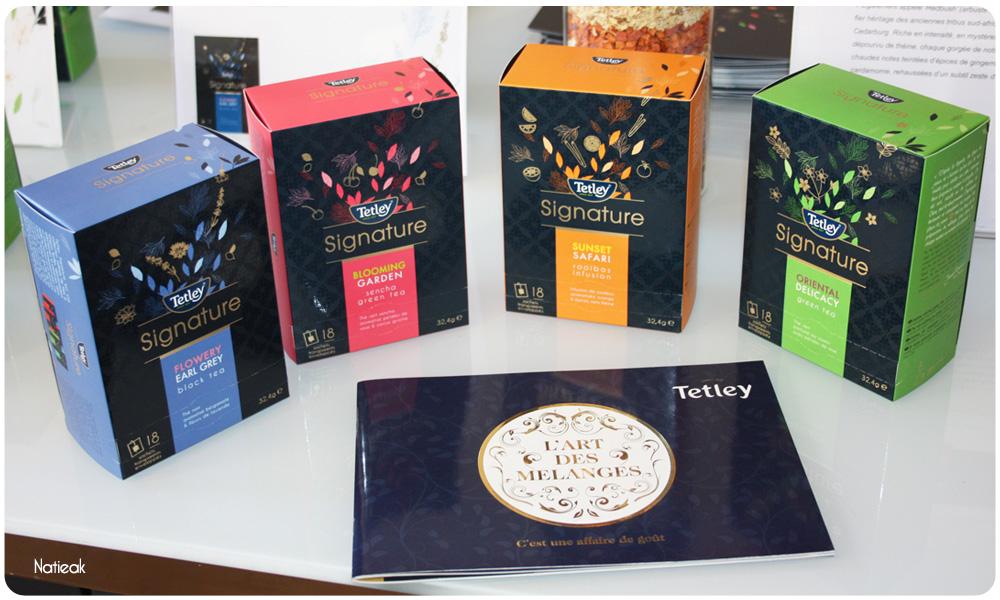Tetley Signature   Sa nouveau gamme de thés d'exception
