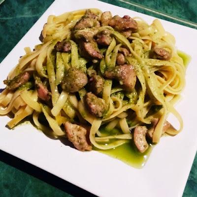 receta con pasta y pollo
