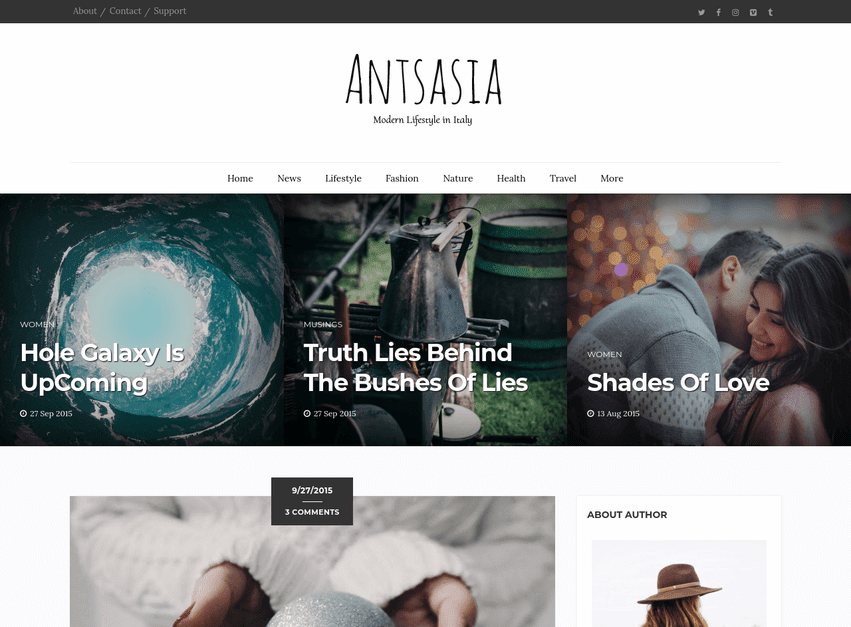 Antsasia Clean Blogger Template