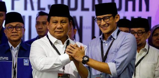 BPN: Elektabilitas Prabowo-Sandi Hampir Samai Jokowi-Ma'ruf