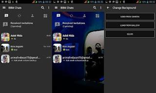 BBM Dark Grey V3.0.0.18 MOD Bisa Ganti Background Sendiri