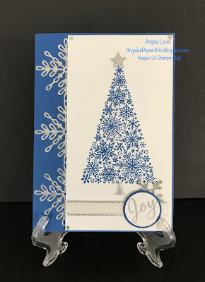 Stampin' Up!, Snow is Glistening card by Angela Lovel, Angela's PaperArts