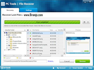 افضل برنامج لاسترجاع الصور والملفات المحذوفة PC File Recover