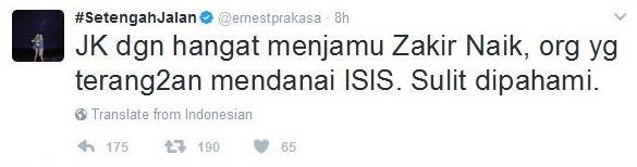 Cuitan Ernest Pelawak Ini Bikin Geram Netizen Karena Tuduhanya?