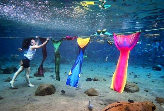 Umbul Ponggok Tempat Wisata Hits di Klaten Snorkeling Diving Prewedding
