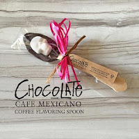 Cinnamon Chocolate Hand-Dipped Spoons for Coffee Lovers