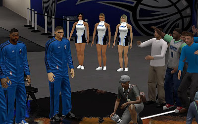 NBA 2K13 Orlando Magic Sideline Characters
