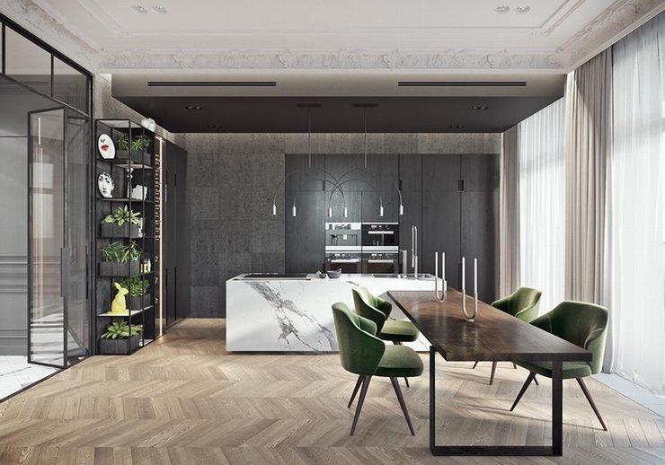 thiết kế thi công nội thất nhà bếp độc đáo 4