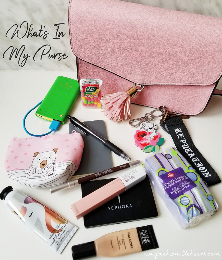 bblogger, bbloggers, bbloggerca, canadian beauty blogger, beauty blog, what is in my purse, in my bag, bath and body works, hand cream, shea butter, urban decay 24/7 eye pencil, maybelline, super stay matte ink, make up for ever, full cover concealer, moleskine notebook, chapters indigo, bag essentials, taylor swift, reputation, cath kidston, 101 dalmatians
