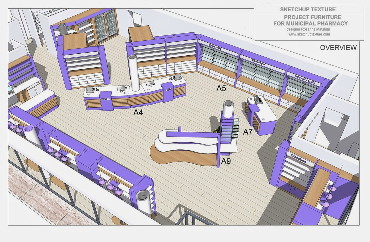Sketchup Texture How To Design A Modern Pharmacy Amp 3d
