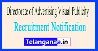 Directorate of Advertising Visual Publicity DAVP Recruitment Notification 2017