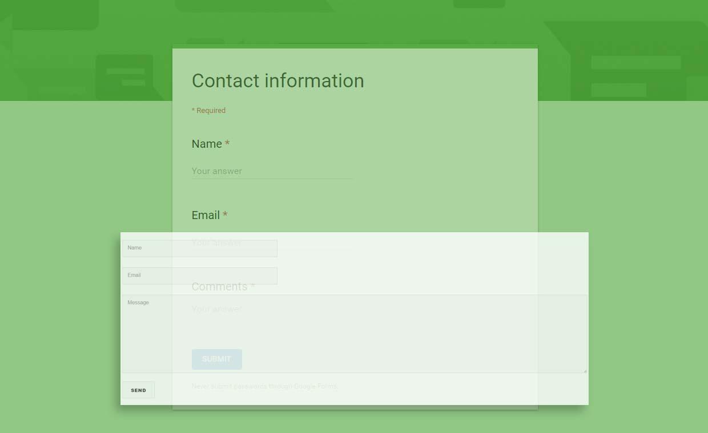 Modifikasi Google Forms Contact Information Untuk Contact Form Blog