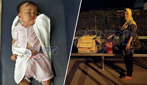 Bayi perempuan 6 bulan ditemui dalam kotak di pondok bas