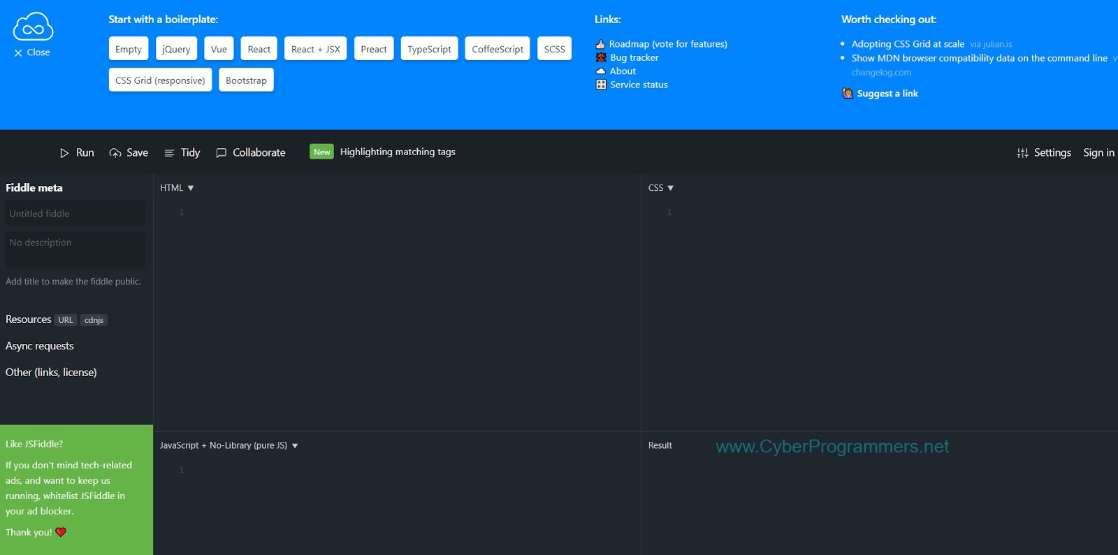 Top 15 Best Online JavaScript Editors/IDE's - Cyber