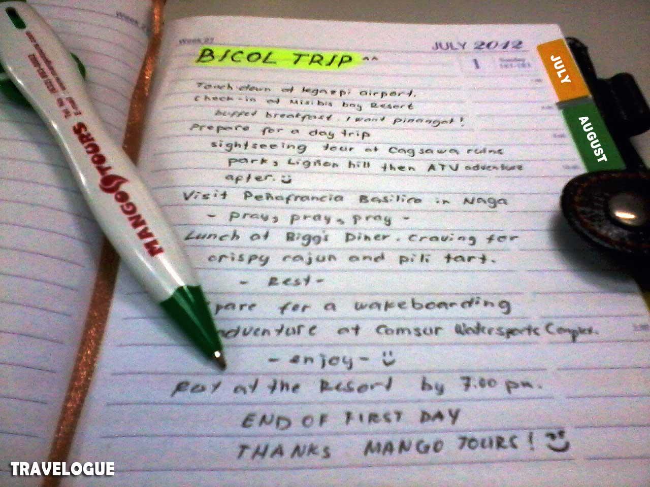 Travelogue examples tagalog.
