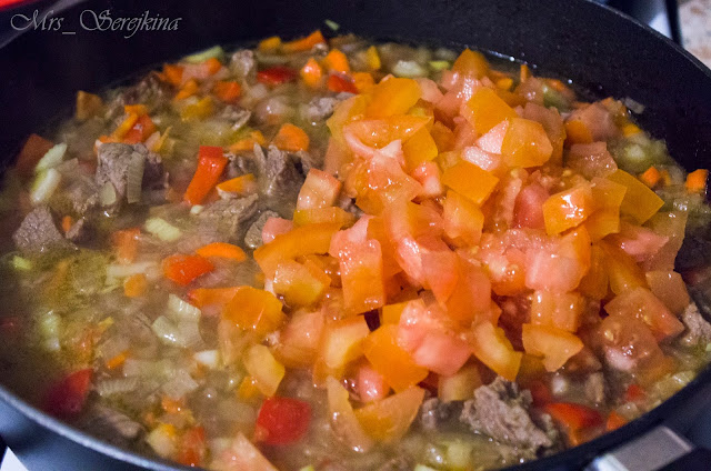 Hungarian goulasha: step 12