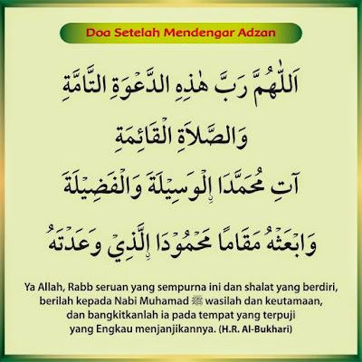 Download Doa Mendengar Adzan Dan Setelah Adzan Sunnah