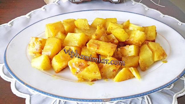 Fırın Poşetinde Baharatlı Patates - www.viphanimlar.com