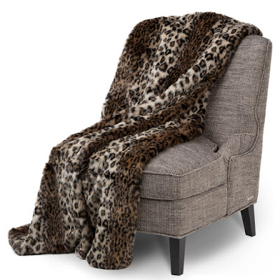 Berkshire Faux Fur Throw by Michael Amini, Animal Print