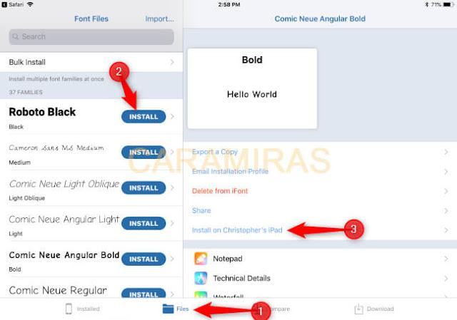 Cara Mengganti Font di iPhone dan iPad - instal font