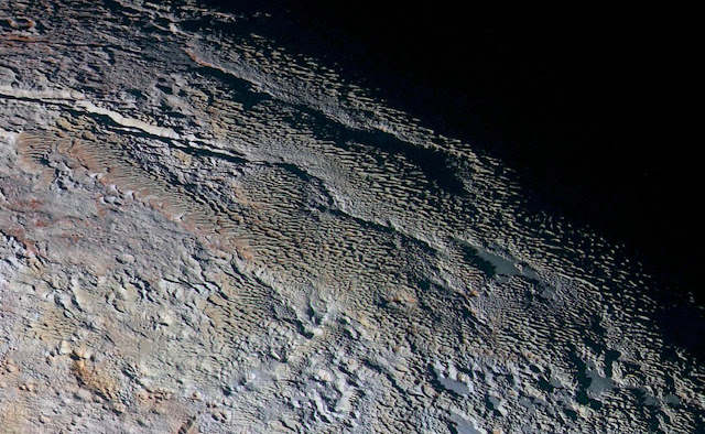 Research identifies icy ridges on Pluto