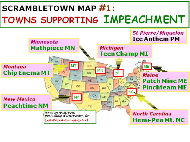 anagram map; U.S> presidential; impeachment