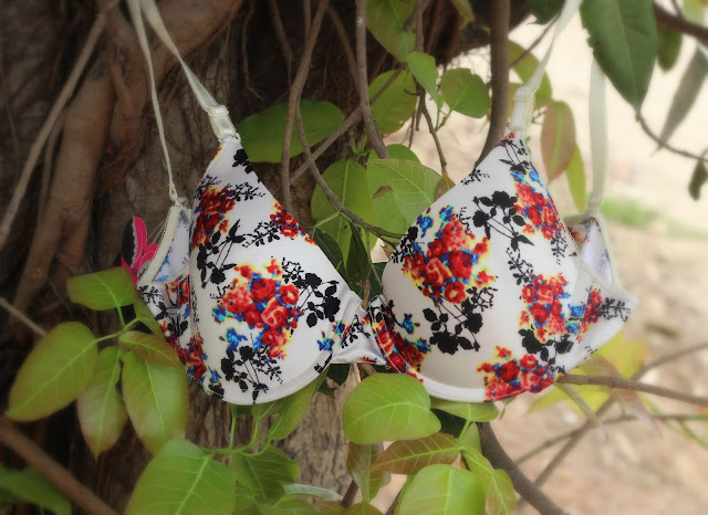 Clovia wired bras with floral print. Perfect for newly weds and flower girls