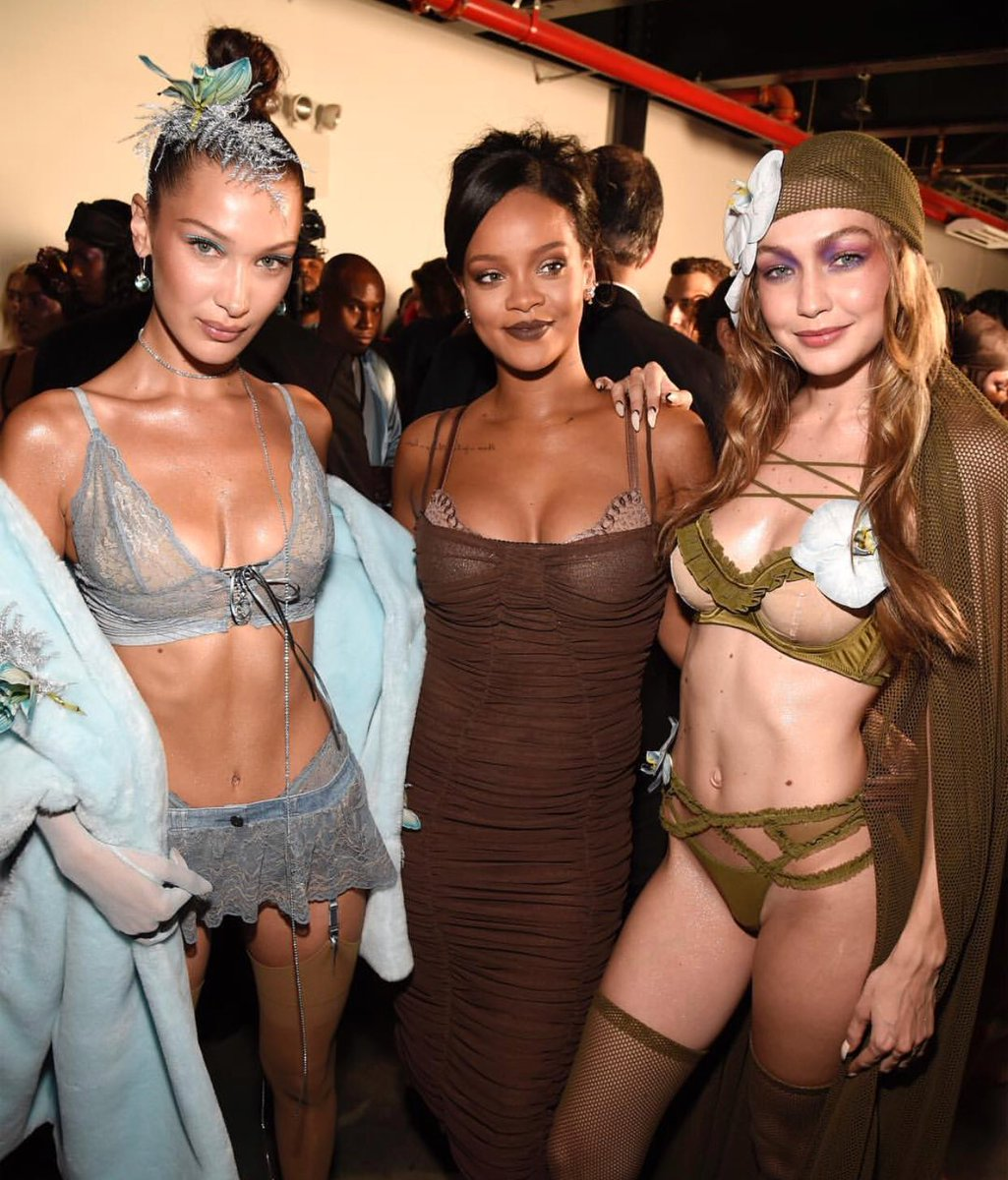 Gigi and Bella Hadid lead the lingerie-laden runway in sizzling ensembles as they storm Rihanna's VERY sexy Savage x Fenty NYFW showcase