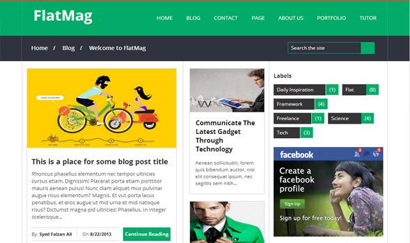 Flatmag blogger magazine template, seo dostu blogger teması, responsive blogger teması, ücretsiz blogger teması
