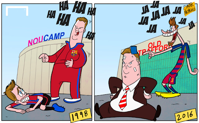 Pique, Van Gaal cartoon