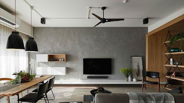 5 maneras de decorar el espacio alrededor de un televisor de pantalla plana
