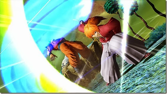 J-Stars Victory Vs, Shounen, Jump, Weekly Shounen Jump, Anime collaboration, games, PS3, Playable Characters, Screenshot, Kenshin, Goku