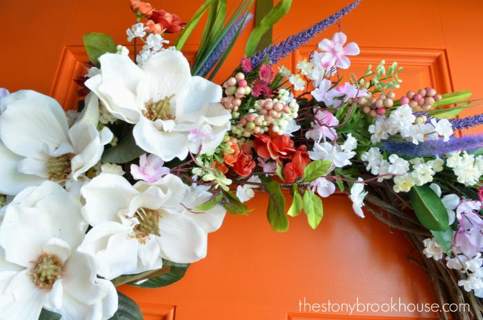Spring Wreath flowers